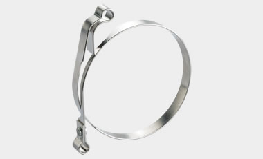 Brake band with eyelet end, automatically manufactured incl. riveter.